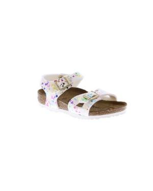 Birkenstock Kinderschoenen Rio wit smal