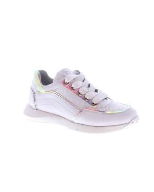 Jochie-Freaks Kinderschoenen 21526 wit zilver