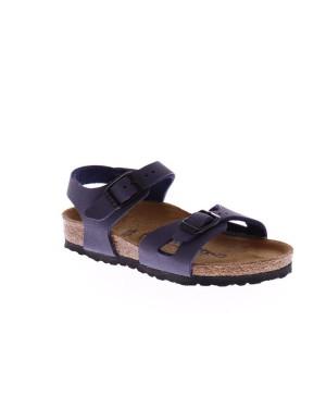 Birkenstock Kinderschoenen Rio blauw smal