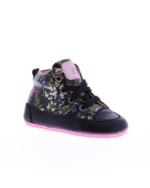 Jochie-Freaks Kinderschoenen 19050 8206 black multi flower