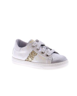 Develab Kinderschoenen 42554 white metallic