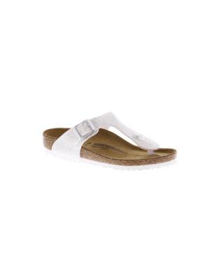 Birkenstock Kinderschoenen Gizeh zilver smal