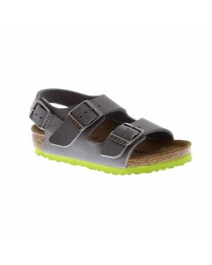 Birkenstock Kinderschoenen Milano grijs smal