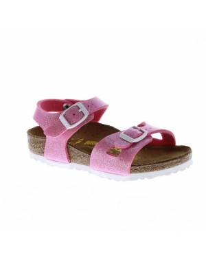 Birkenstock Kinderschoenen Rio Galaxy Roze Medium