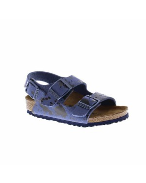 Birkenstock Kinderschoenen Milano Sandaal Blauw Smal