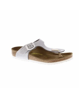 Birkenstock Kinderschoenen Gizeh zilver breed