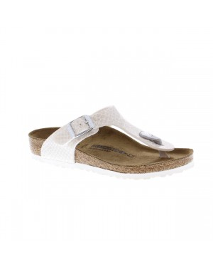 Birkenstock Kinderschoenen Gizeh wit breed