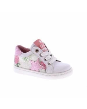 Shoes me Kinderschoenen UR8S044-C wit roze