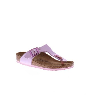 Birkenstock Kinderschoenen Gizeh lila metallic smal