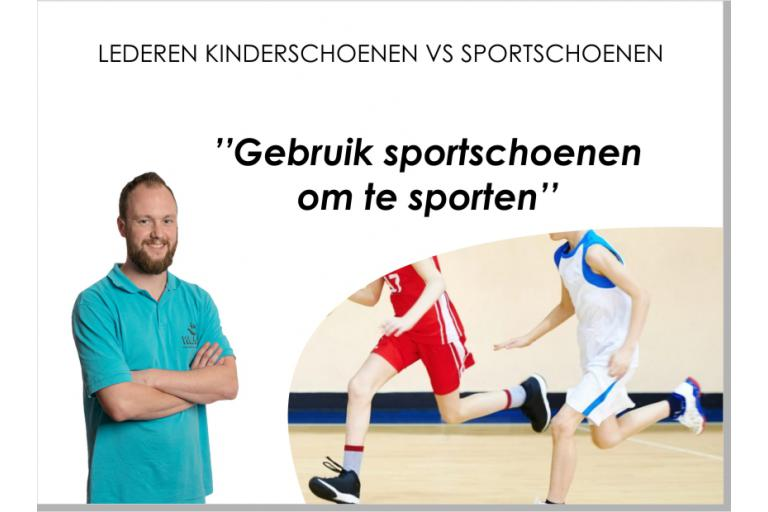 Lederen kinderschoenen vs sportschoenen