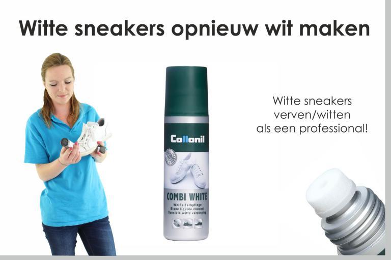 Witte sneakers opnieuw wit maken
