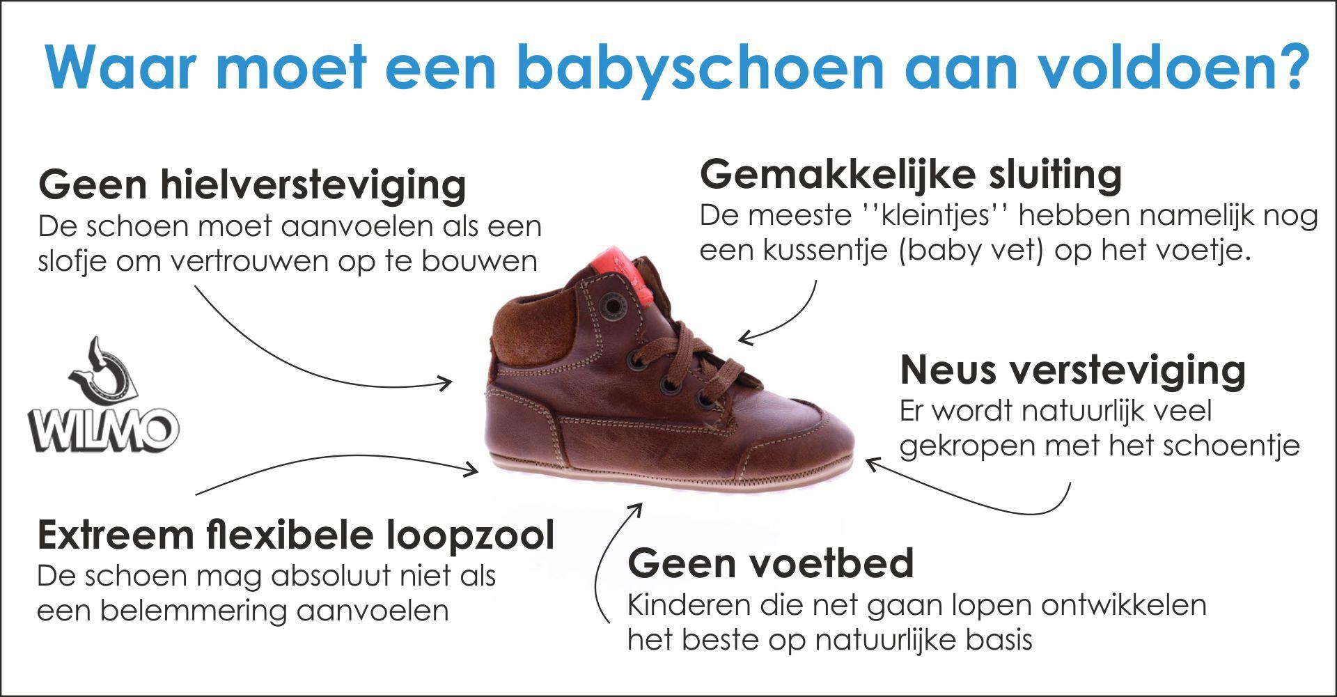 Waar moet een babyschoen aan voldoen?
