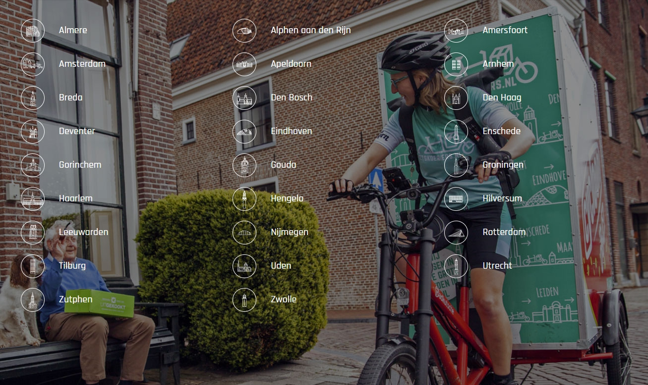 Steden waar Fietskoeriers.nl levert