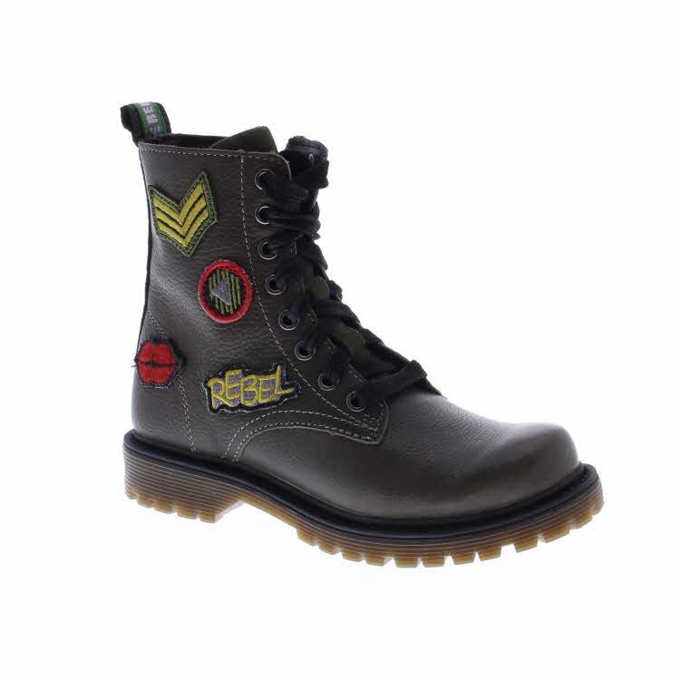 Stoere biker boots met patches voor meisjes